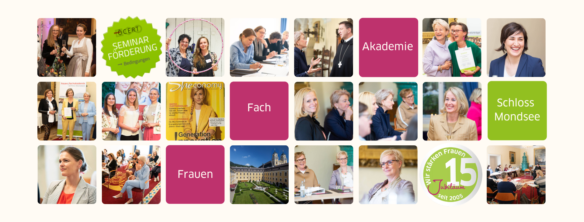Collage Frauen:Fachakademie